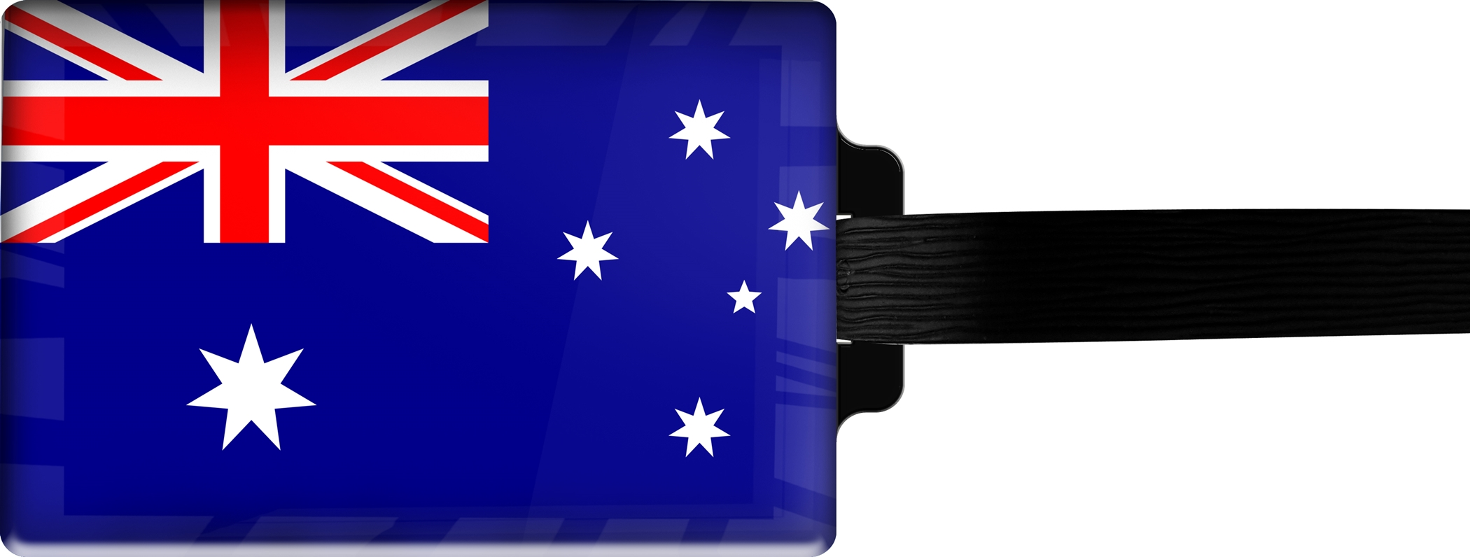 Hochwertiger Gepäckanhänger aus Acrylglas | FLAGGE AUSTRALIEN | metALUm #00076