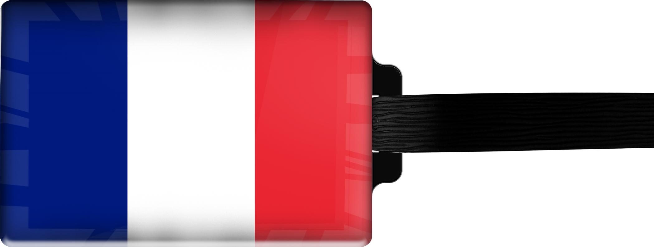 Hochwertiger Gepäckanhänger aus Acrylglas | FLAGGE FRANKREICH | metALUm #00078