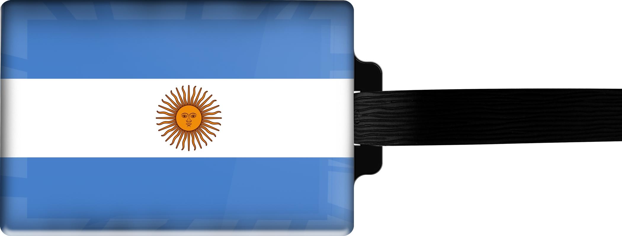 Hochwertiger Gepäckanhänger aus Acrylglas | FLAGGE ARGENTINIEN | metALUm #00080