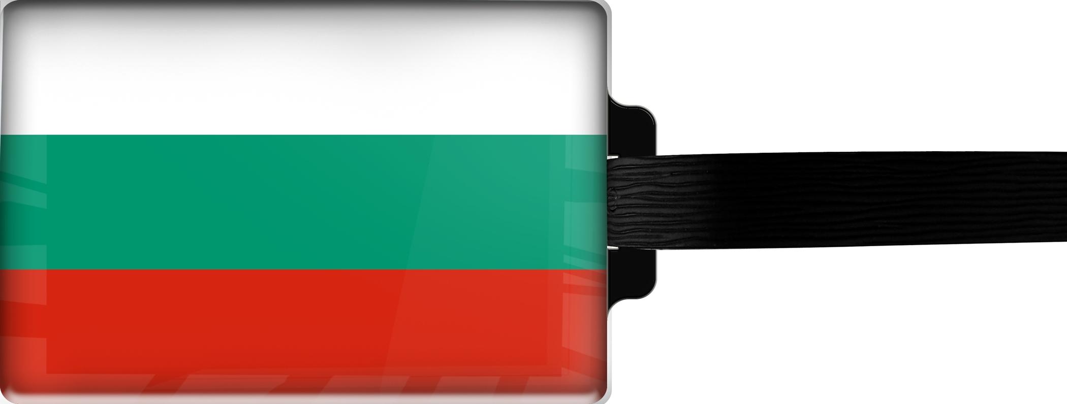 Hochwertiger Gepäckanhänger aus Acrylglas | FLAGGE BULGARIEN | metALUm #00084