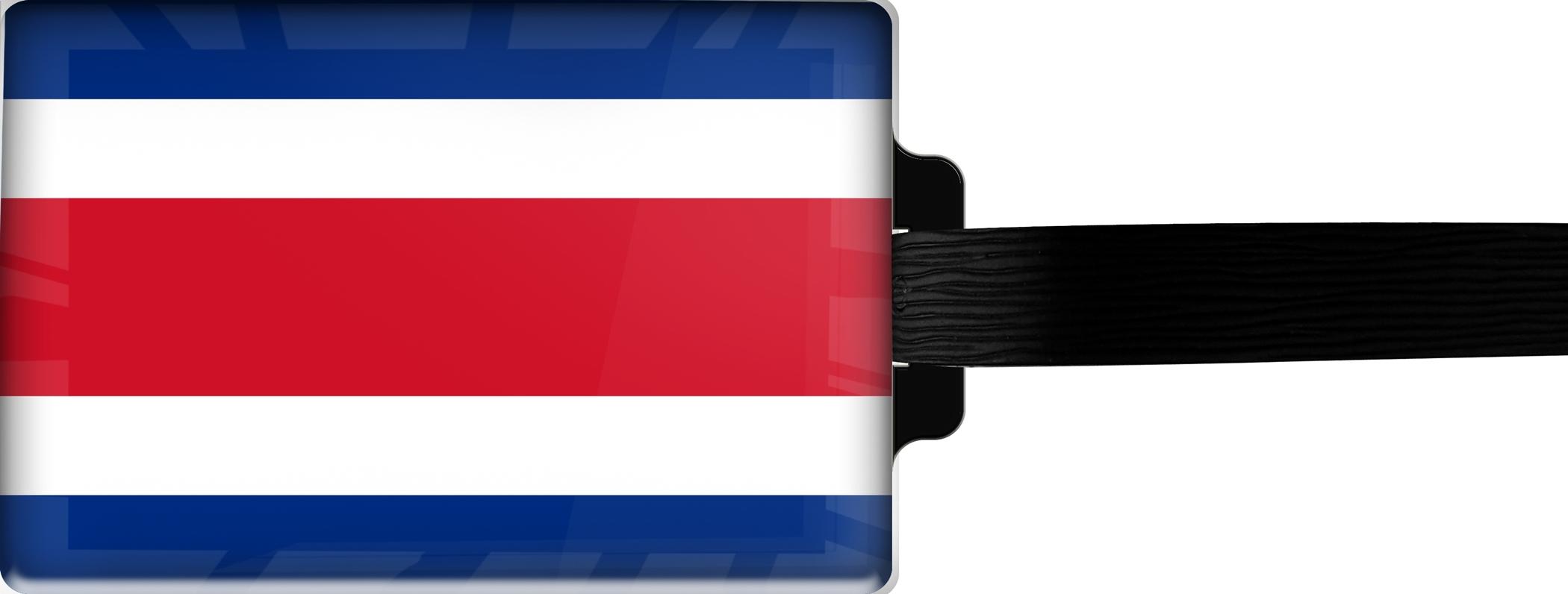 Hochwertiger Gepäckanhänger aus Acrylglas | FLAGGE COSTA RICA | metALUm #00085