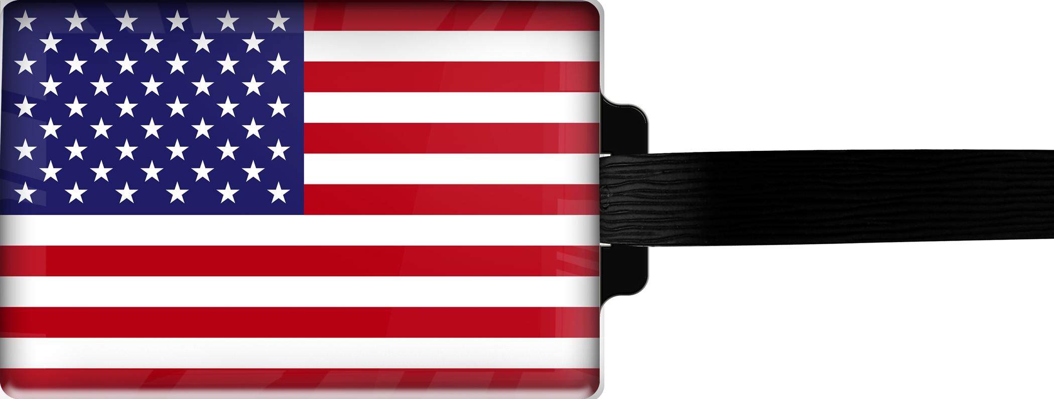 """metALUm Premium Gepäckanhänger """"USA"""""""