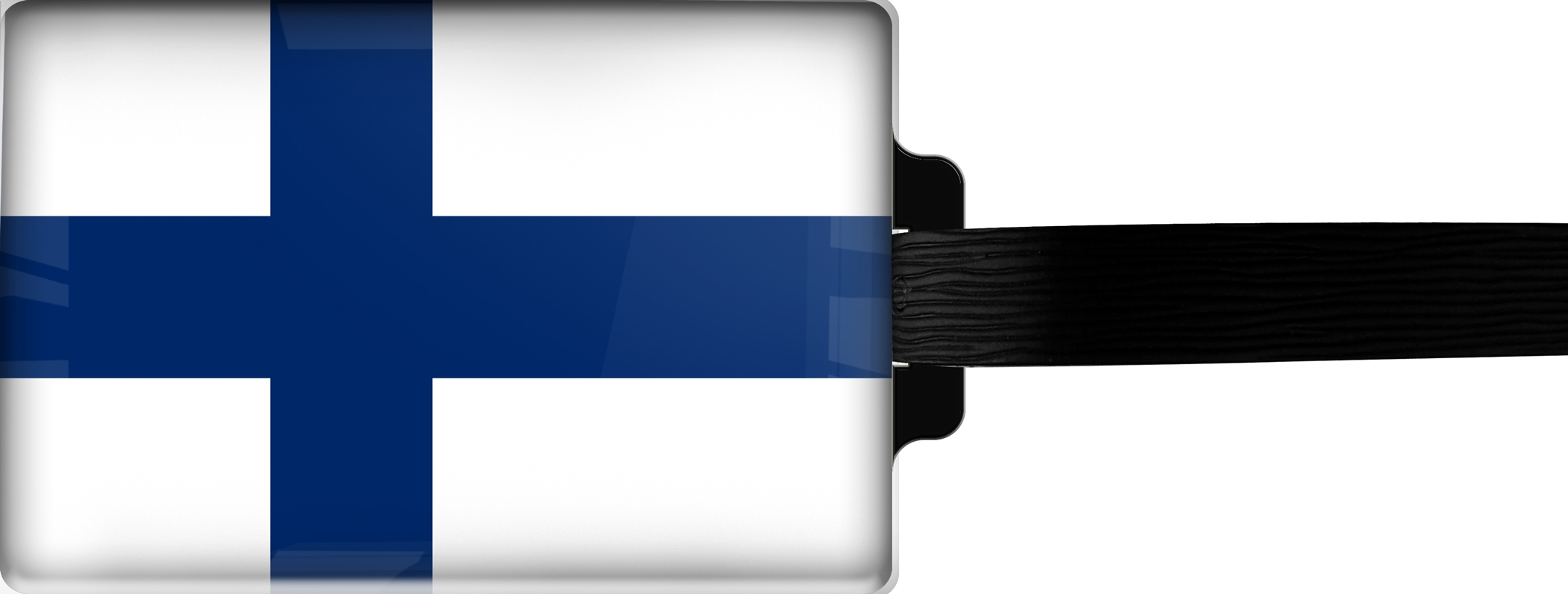 Hochwertiger Gepäckanhänger aus Acrylglas | FLAGGE FINNLAND | metALUm #00090