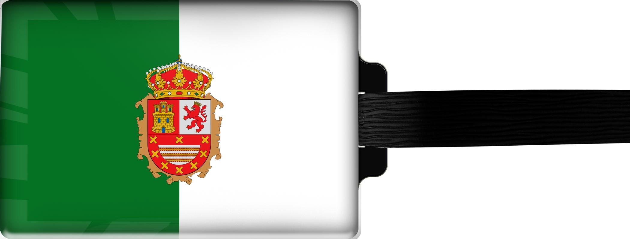Hochwertiger Gepäckanhänger aus Acrylglas | FLAGGE FUERTEVENTURA | metALUm #00092
