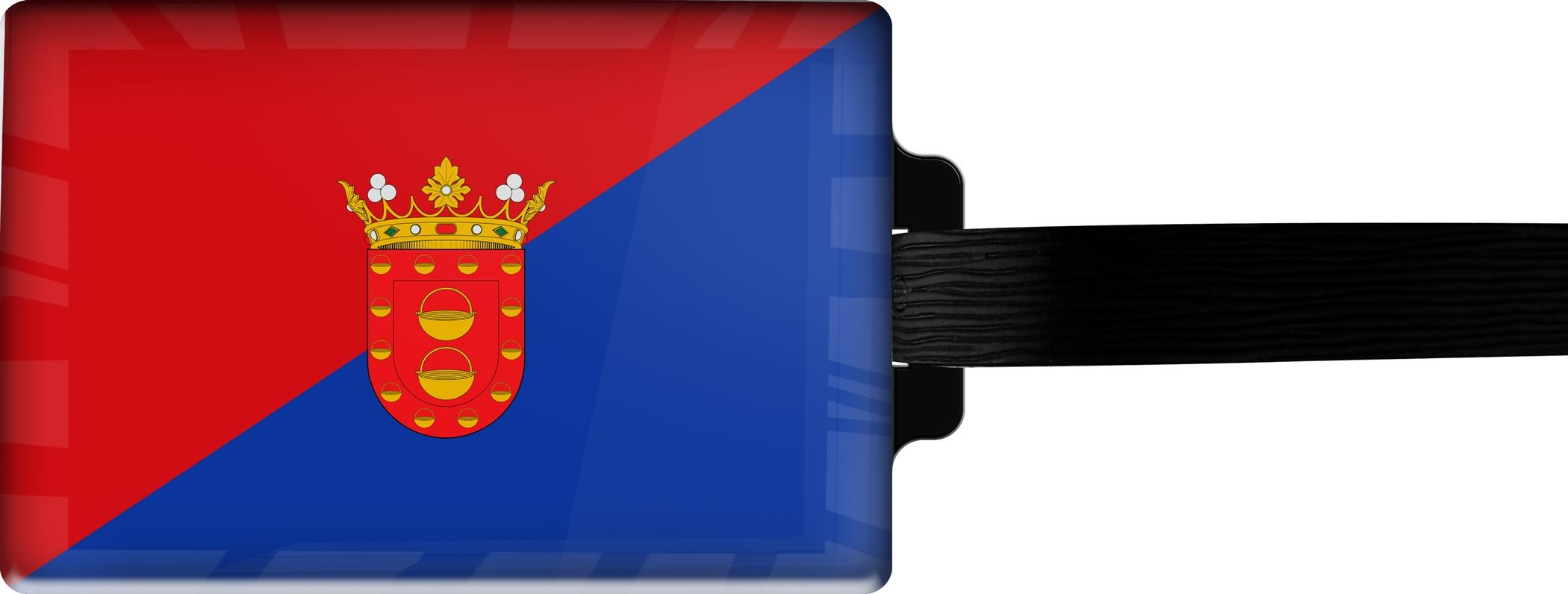 Hochwertiger Gepäckanhänger aus Acrylglas | FLAGGE LANZEROTE | metALUm #00093