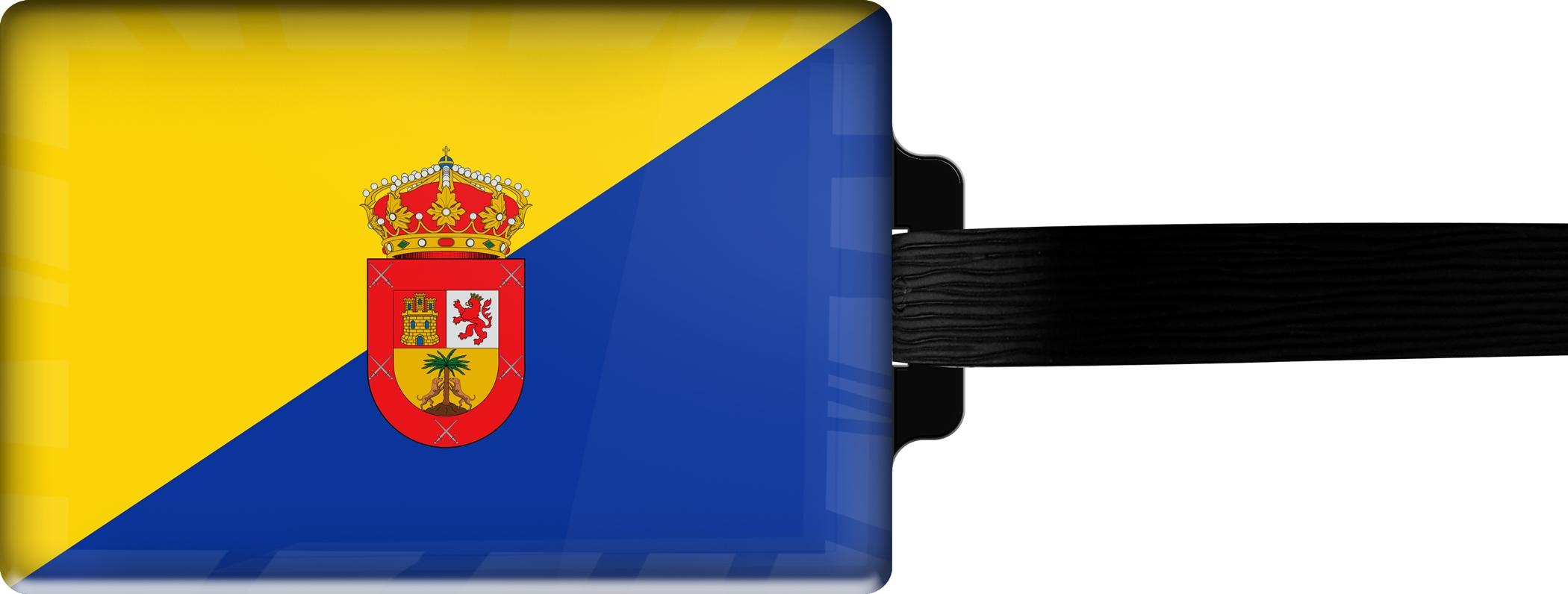 Hochwertiger Gepäckanhänger aus Acrylglas | FLAGGE GRAN CANARIA | metALUm #00094
