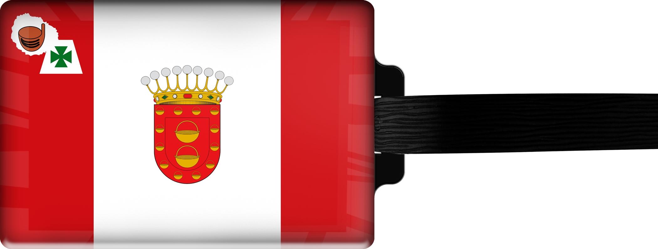 Hochwertiger Gepäckanhänger aus Acrylglas | FLAGGE LA GOMERA | metALUm #00096