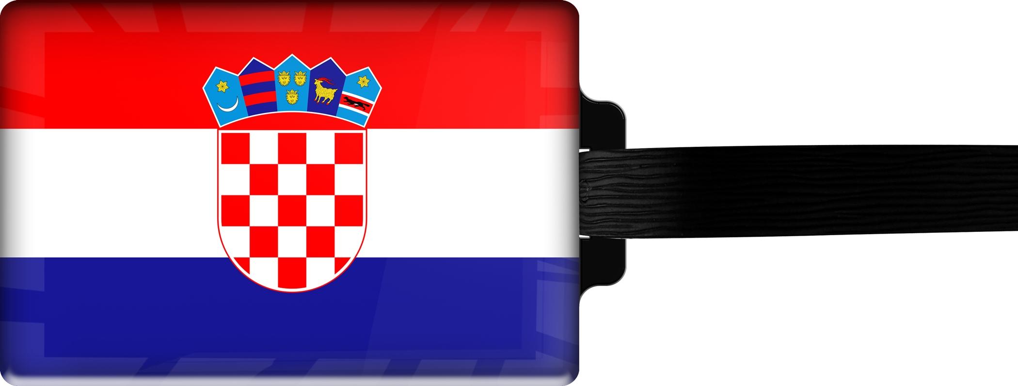 """metALUm Premium Gepäckanhänger """"Kroatien"""""""