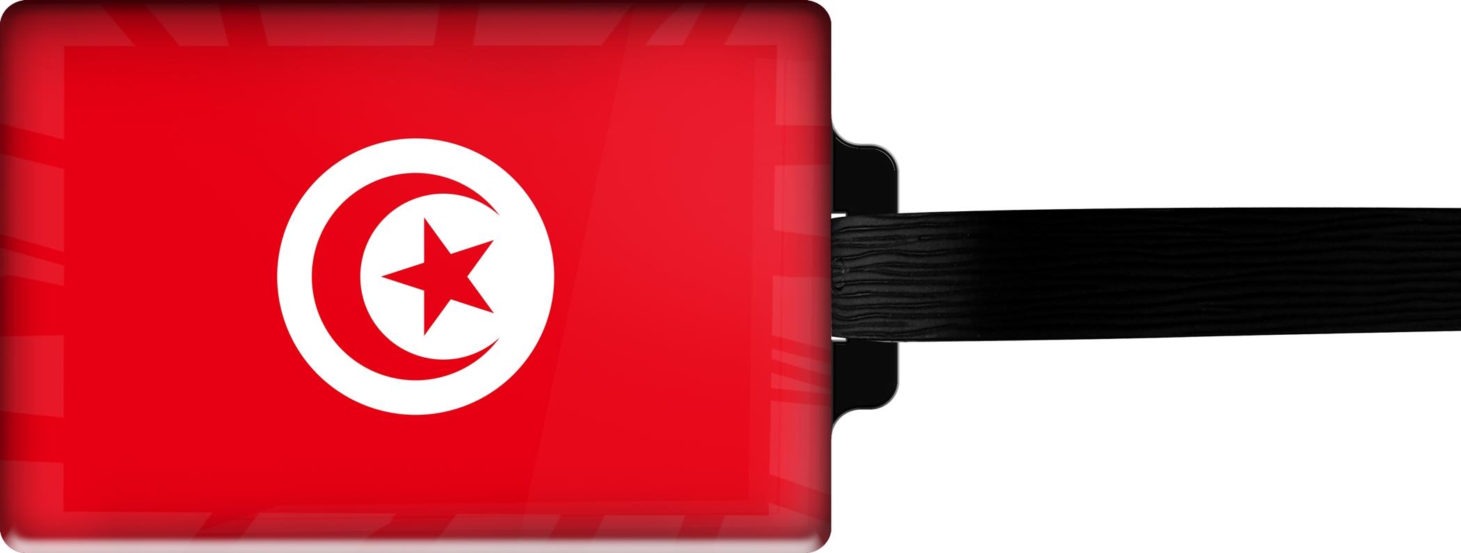 "metALUm Premium Gepäckanhänger ""Tunesien"""