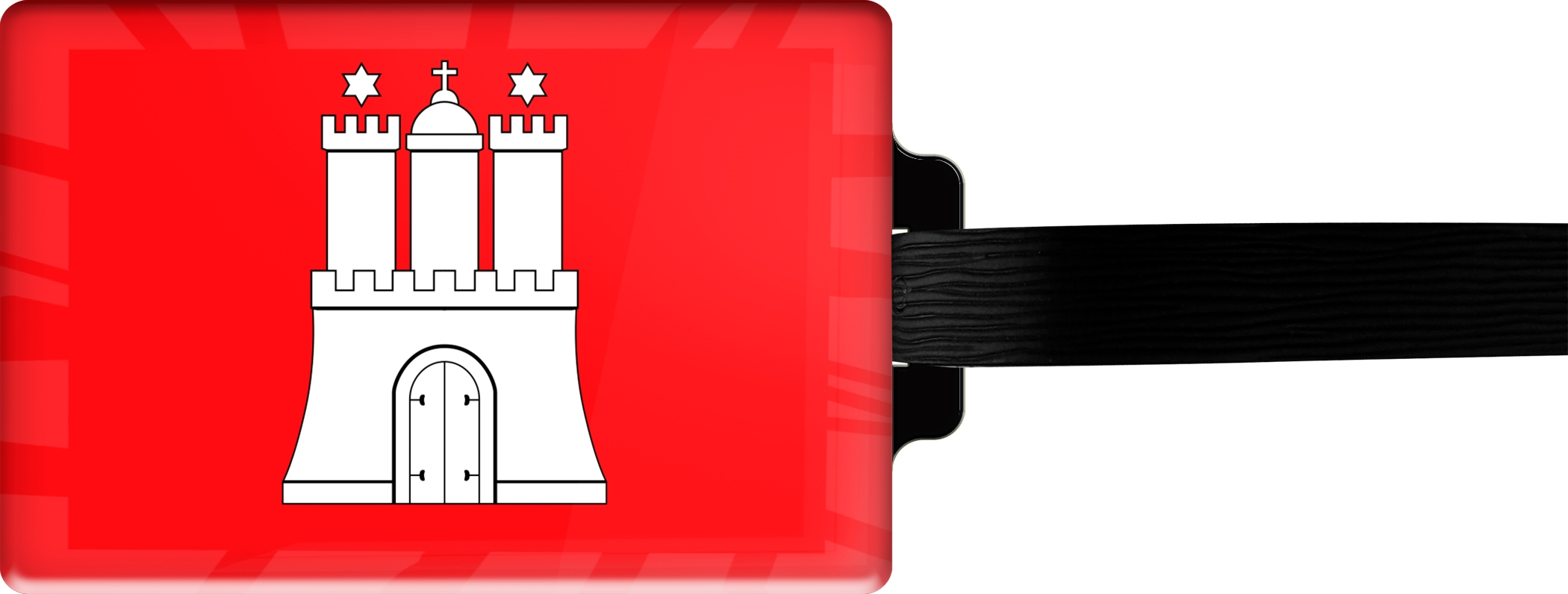"metALUm Premium Gepäckanhänger ""Hamburg"""