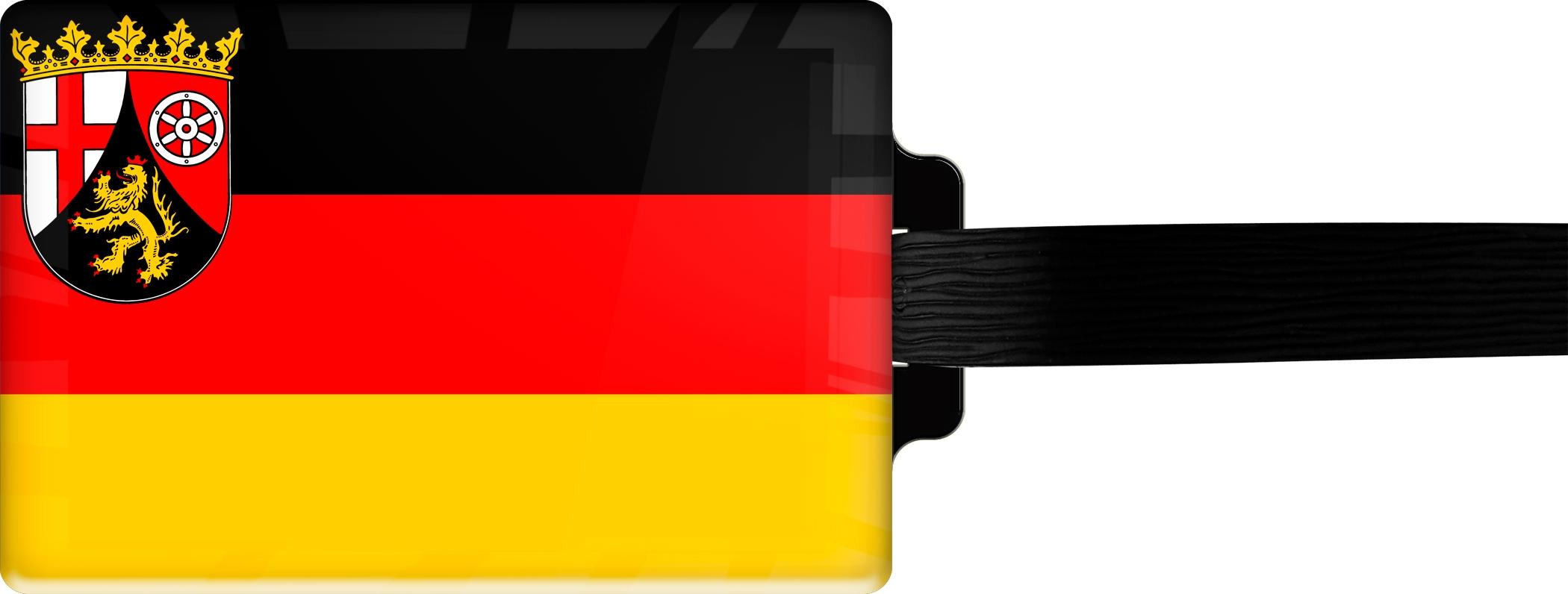 """metALUm Premium Gepäckanhänger """"Rheinland-Pfalz"""""""