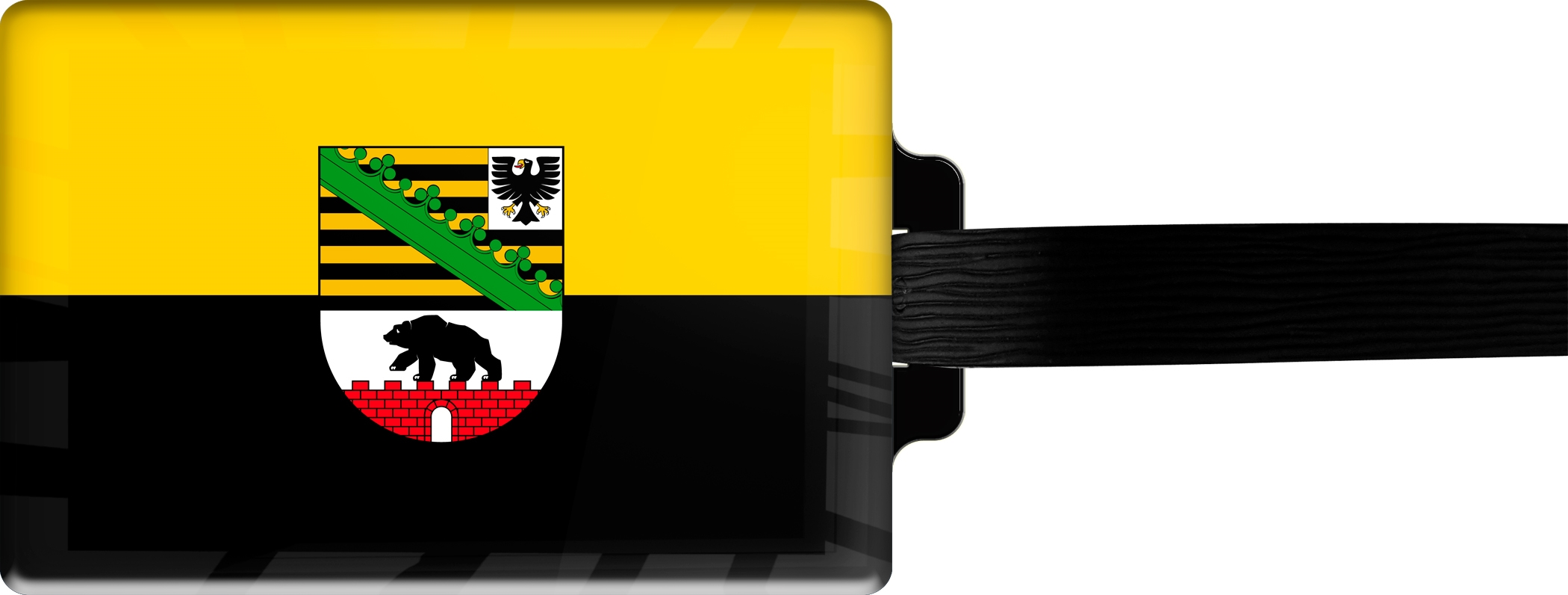 "metALUm Premium Gepäckanhänger ""Sachsen- Anhalt"""