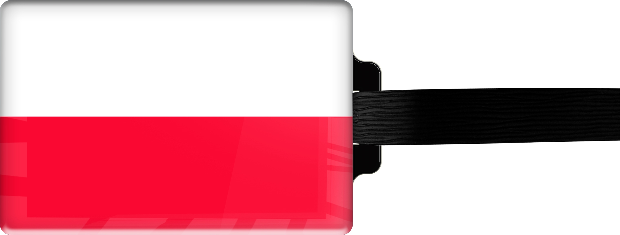 "metALUm Premium Gepäckanhänger ""Polen"""