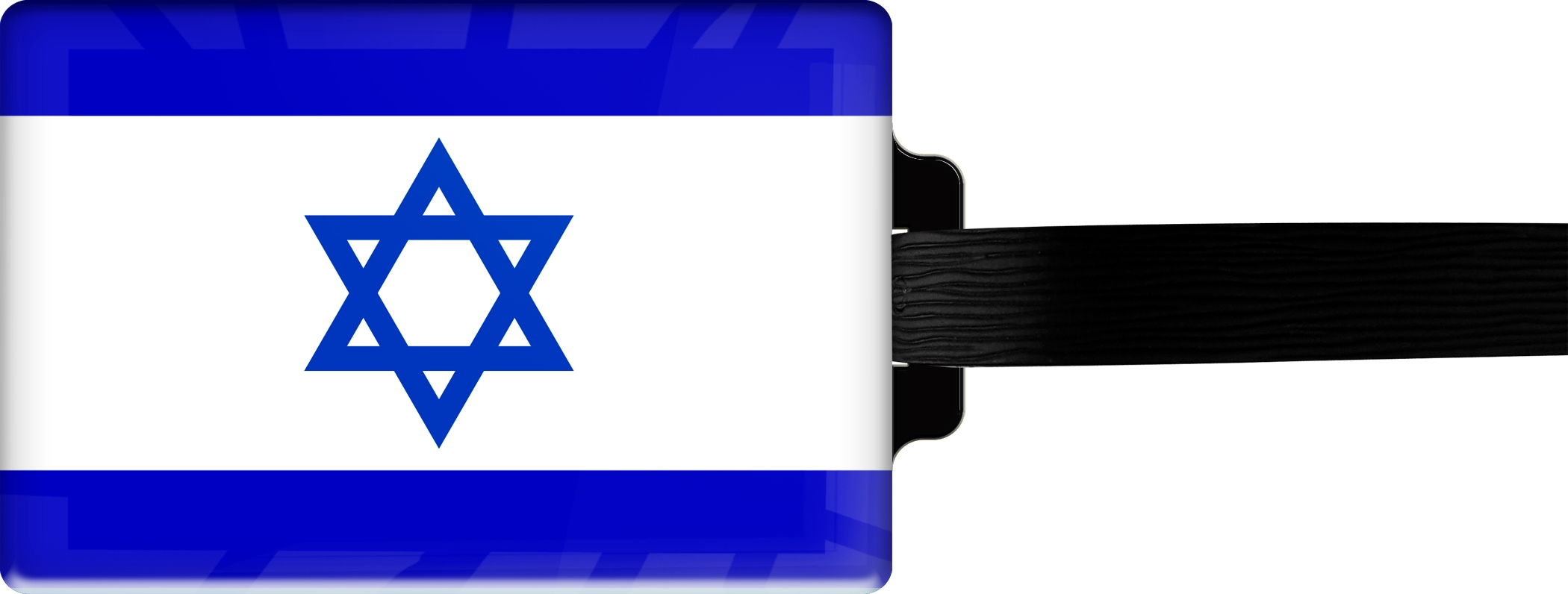 """metALUm Premium Gepäckanhänger """"Israel"""""""