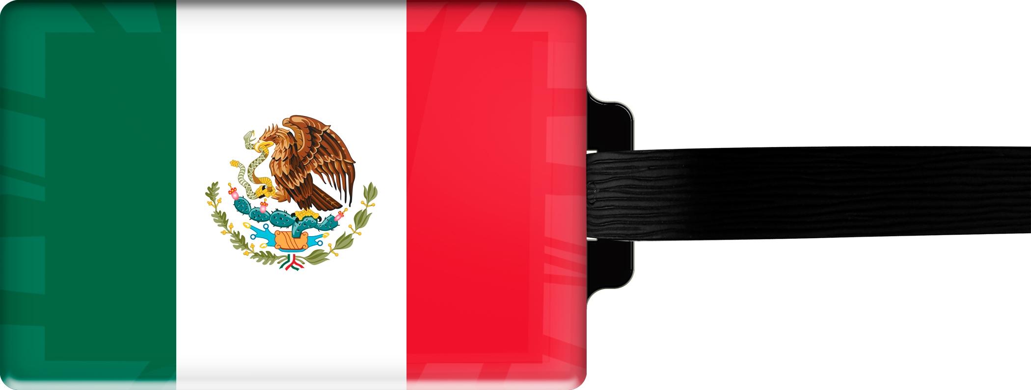 """metALUm Premium Gepäckanhänger """"Mexiko"""""""