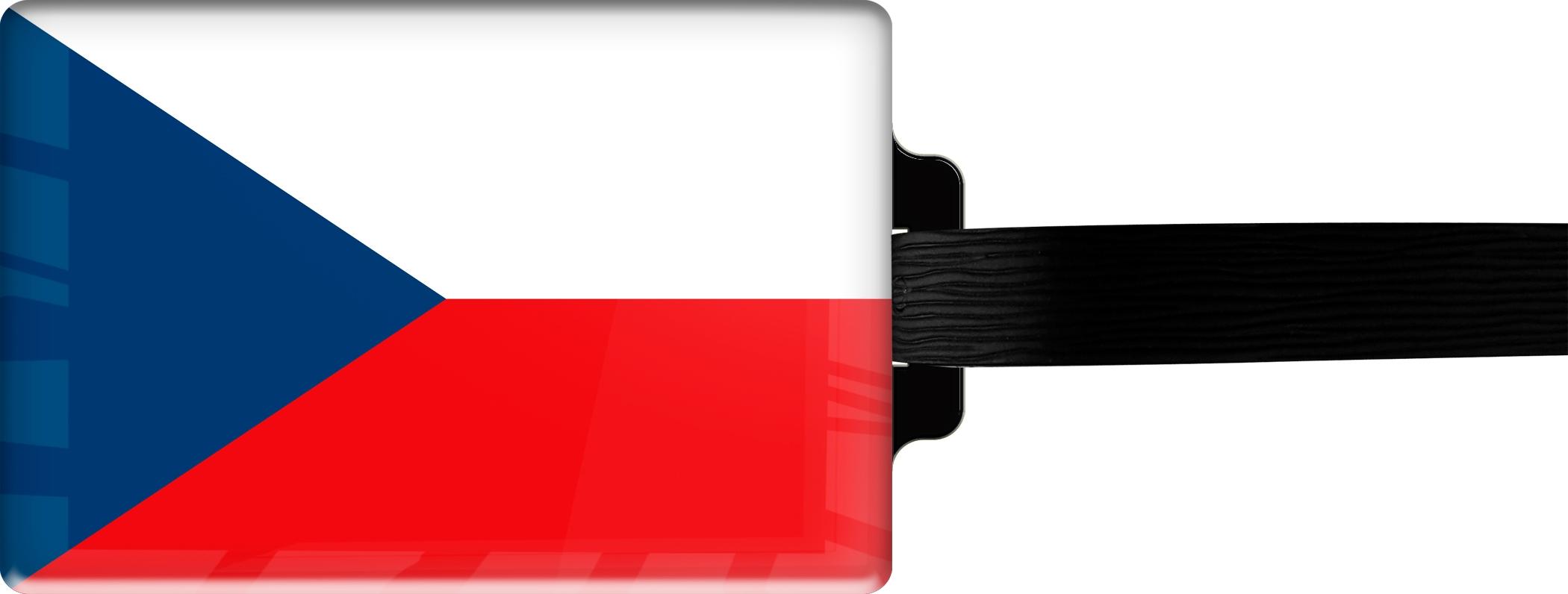 "metALUm Premium Gepäckanhänger ""Tschechien"""