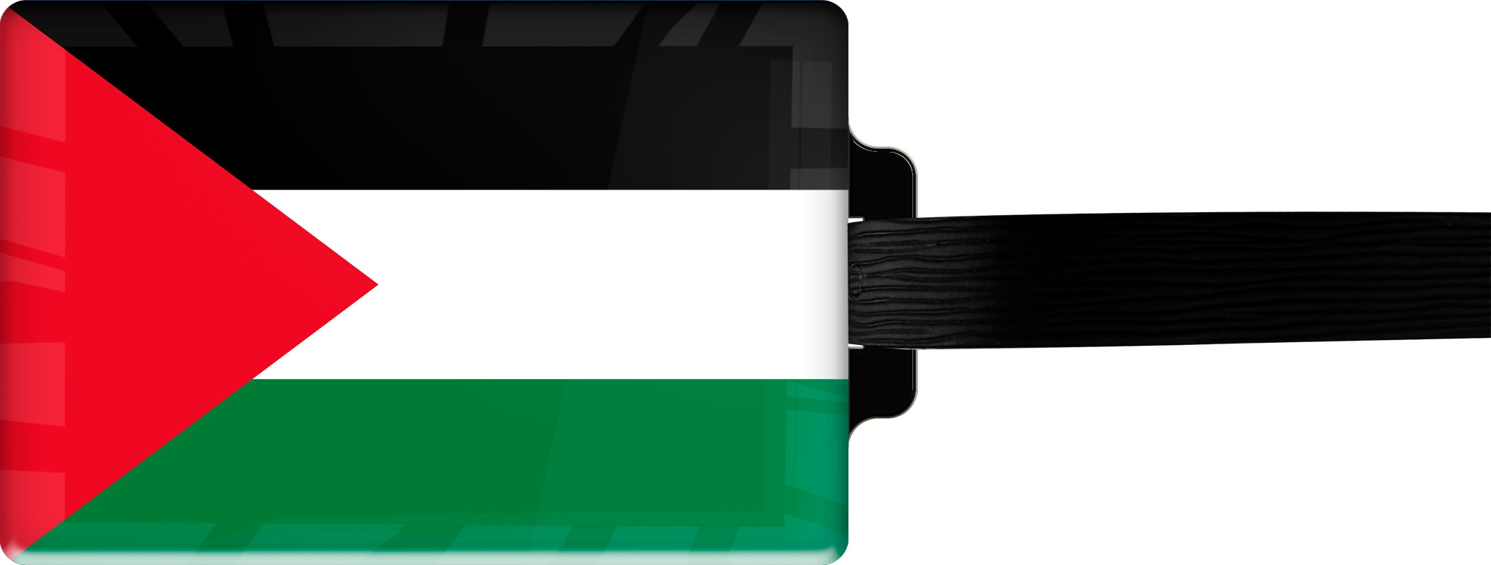 """metALUm Premium Gepäckanhänger """"Palästina"""""""