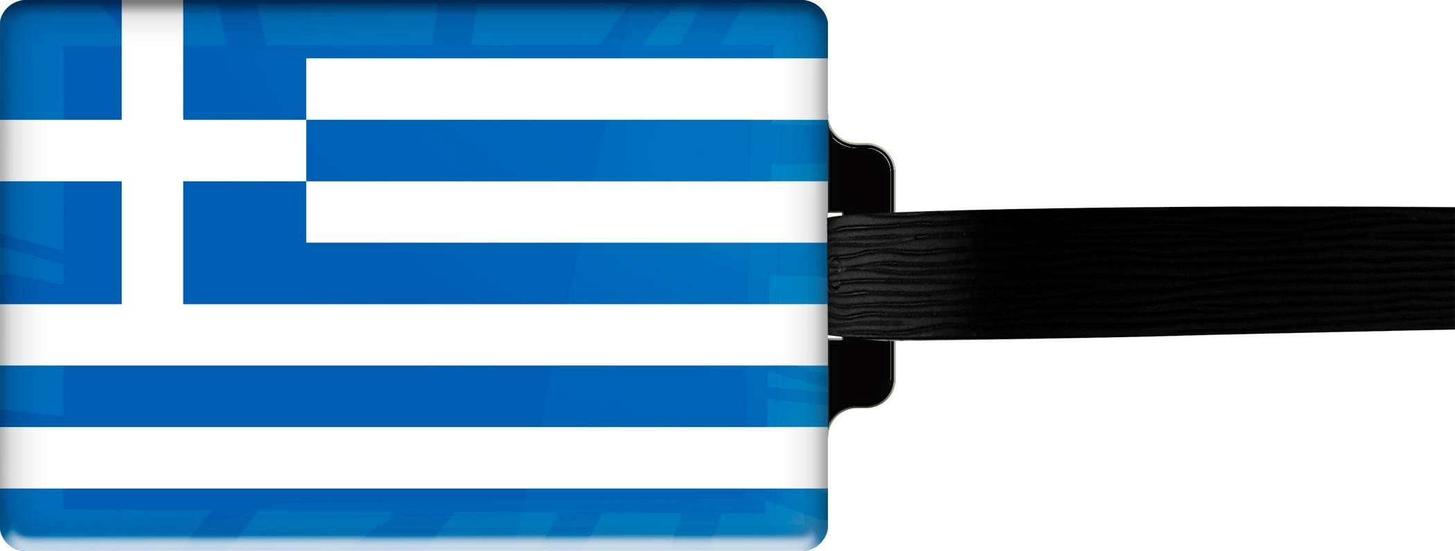 "metALUm Premium Gepäckanhänger ""Griechenland"""