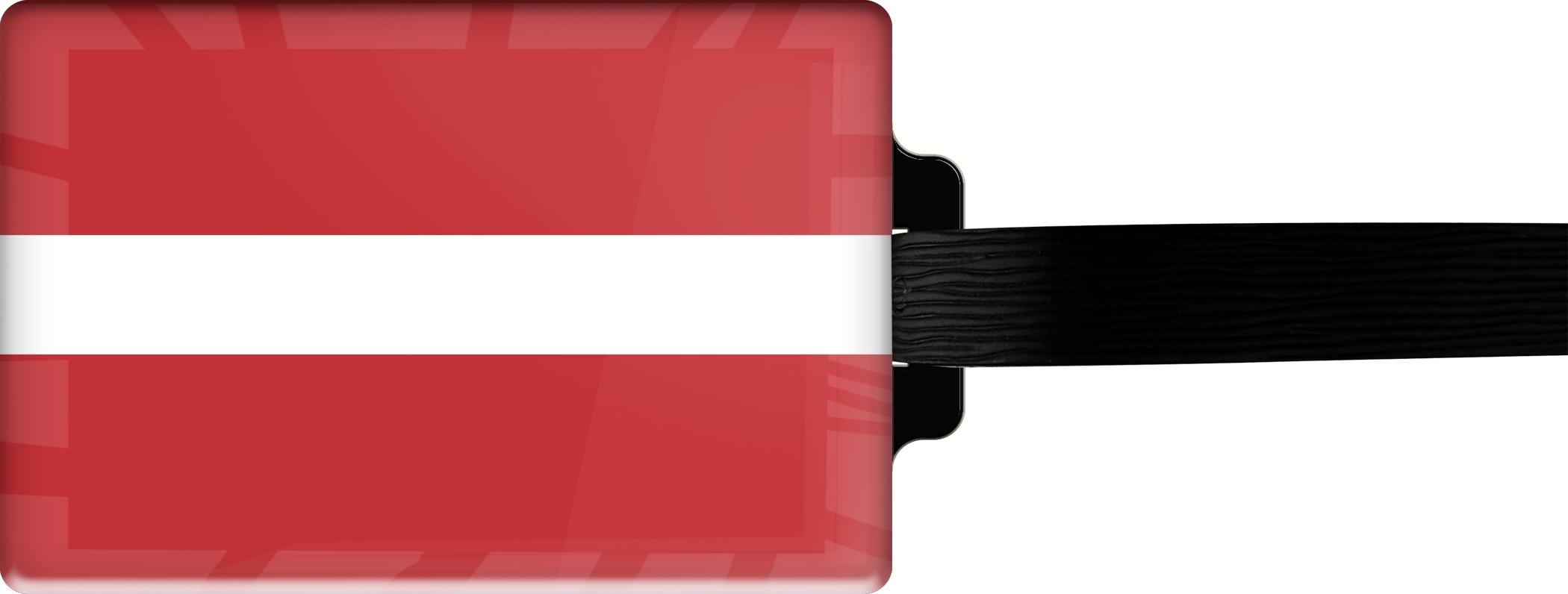 "metALUm Premium Gepäckanhänger ""Lettland"""