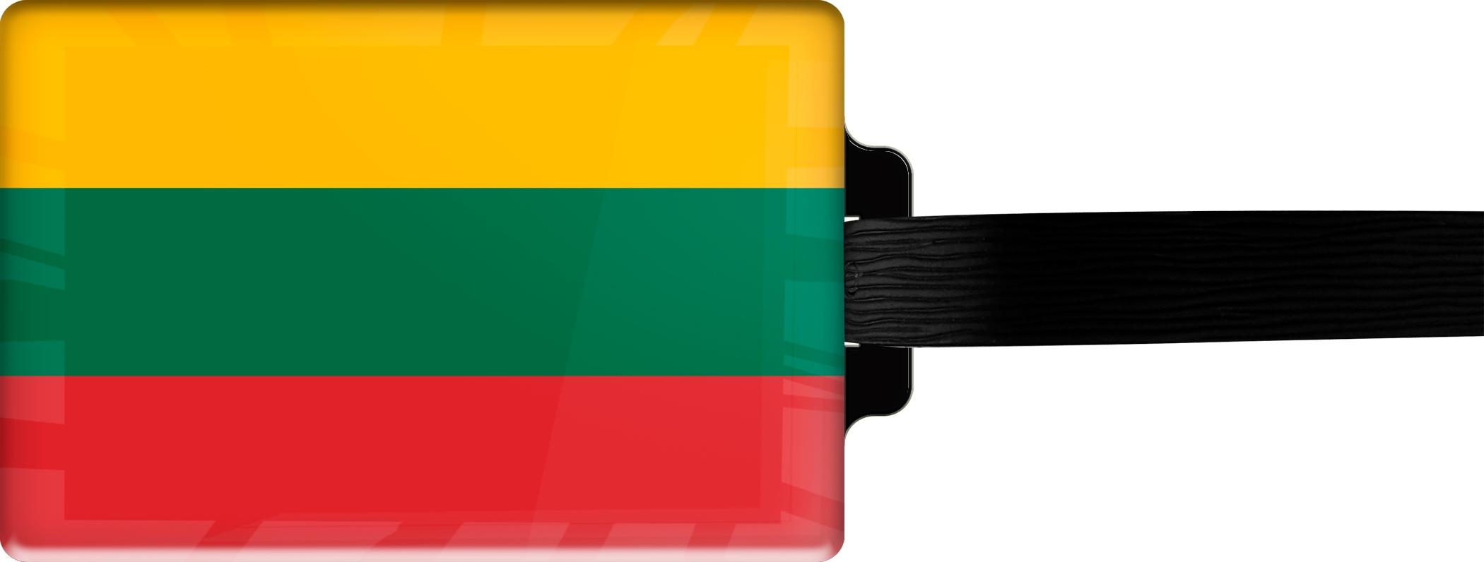 "metALUm Premium Gepäckanhänger ""Litauen"""