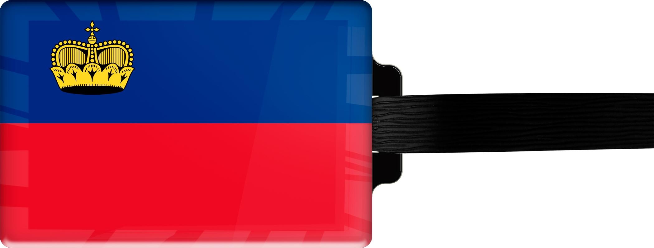 "metALUm Premium Gepäckanhänger ""Liechtenstein"""