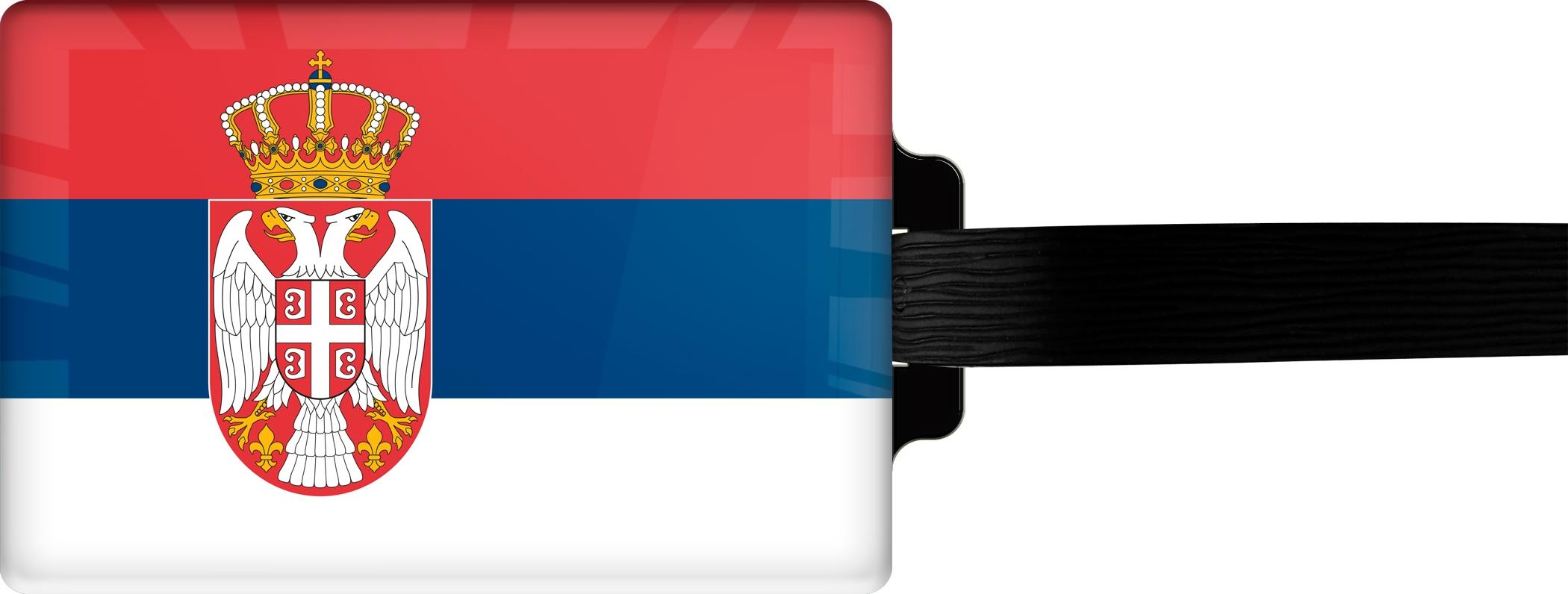 "metALUm Premium Gepäckanhänger ""Serbien"""