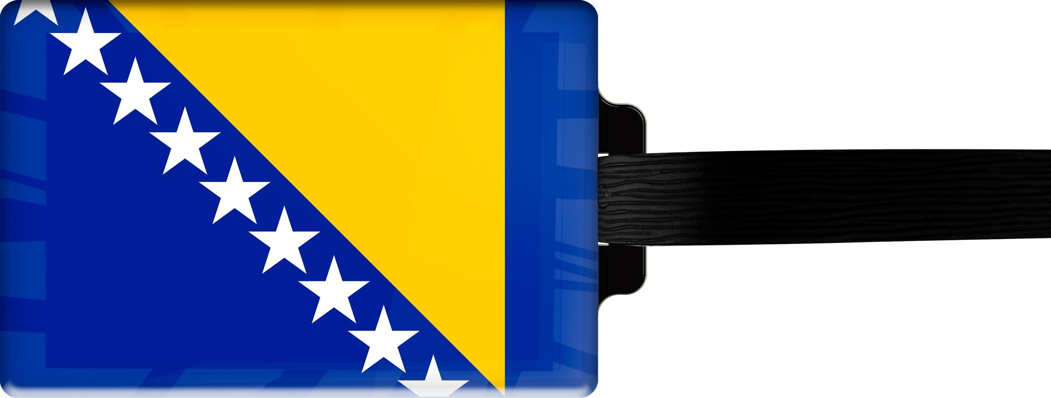 """metALUm Premium Gepäckanhänger """"Bosnien - Herzegowina"""""""