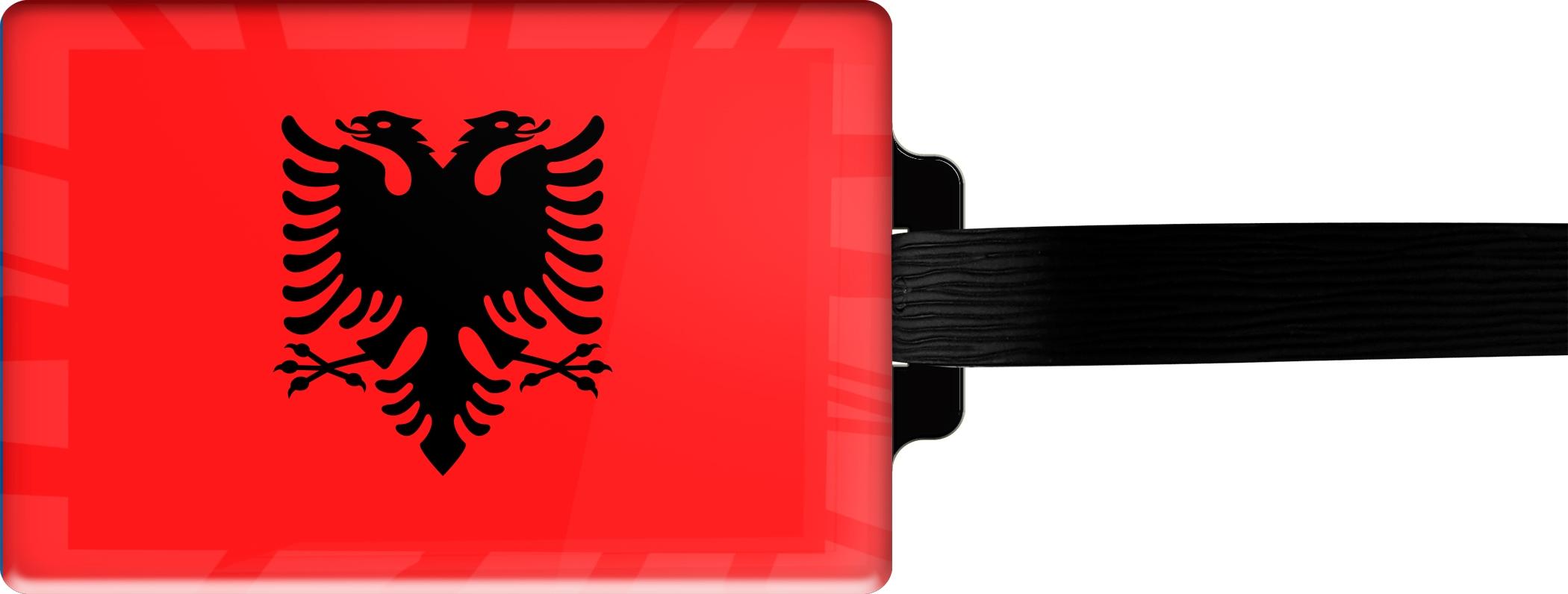 "metALUm Premium Gepäckanhänger ""Albanien"""