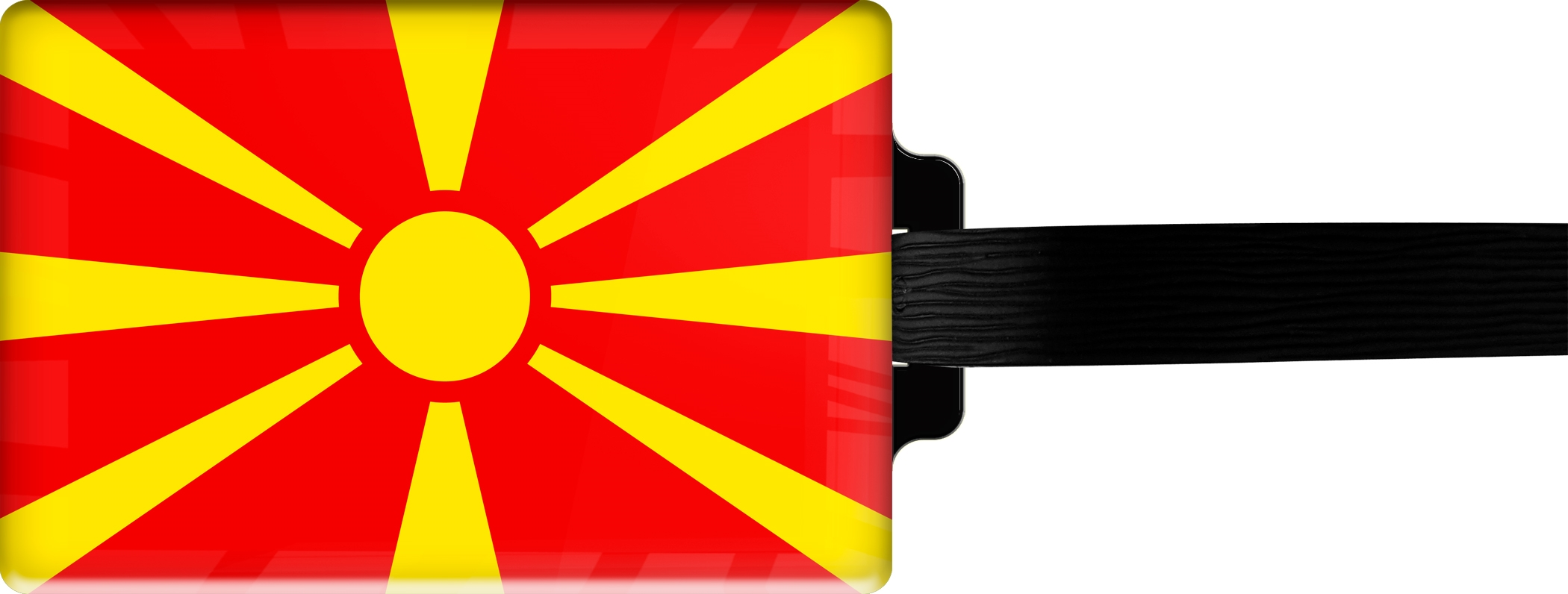 "metALUm Premium Gepäckanhänger ""Mazedonien"""