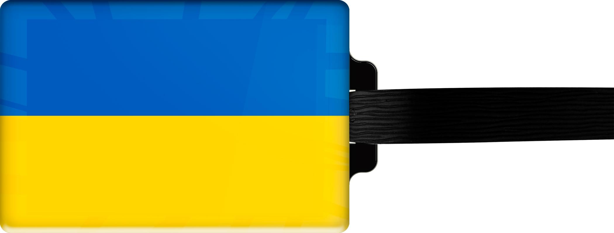 "metALUm Premium Gepäckanhänger ""Ukraine"""