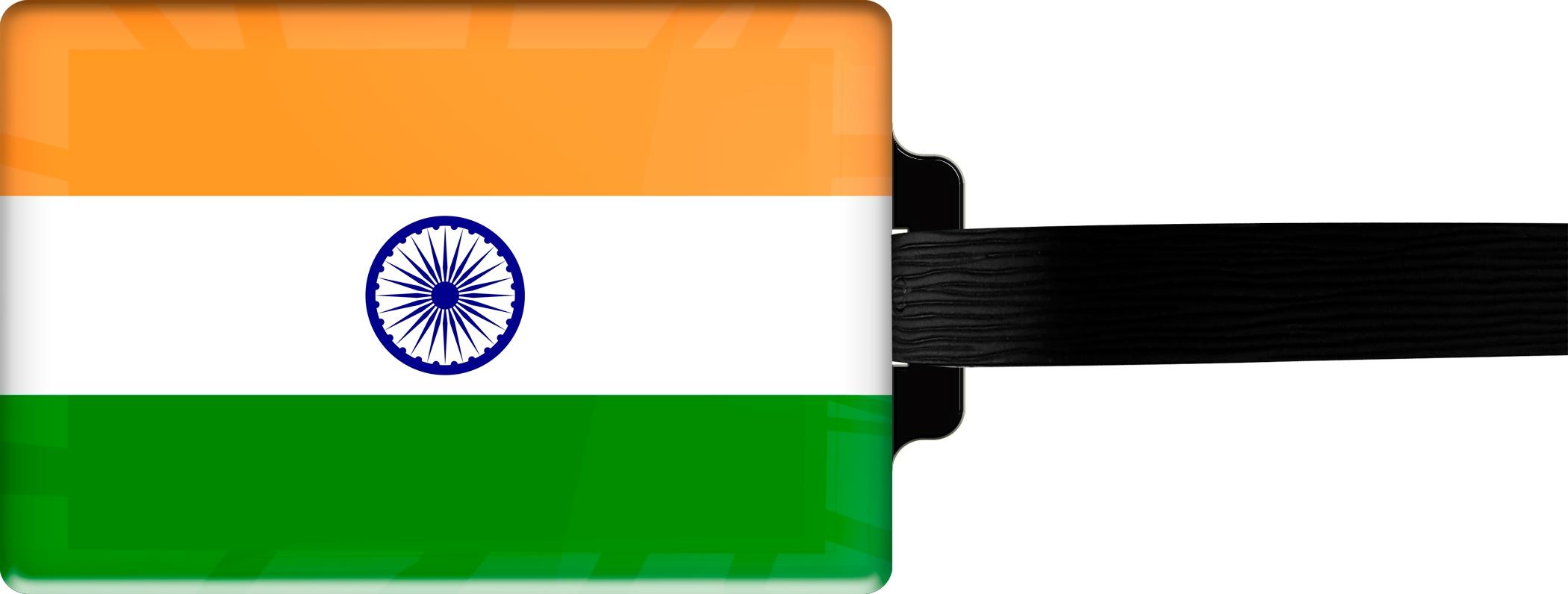 """metALUm Premium Gepäckanhänger """"Indien"""""""