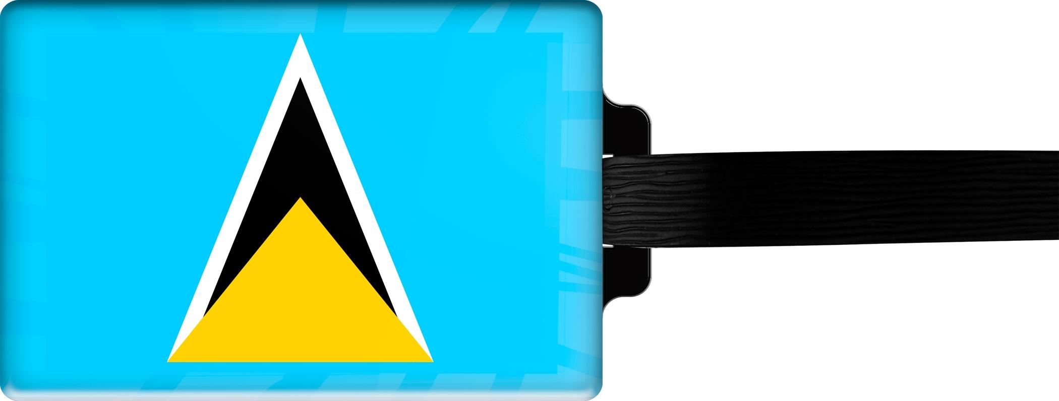 "metALUm Premium Gepäckanhänger ""St. Lucia"""