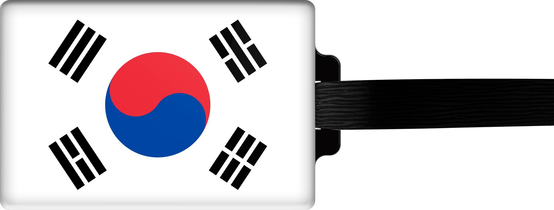 """metALUm Premium Gepäckanhänger """"Süd - Korea"""""""