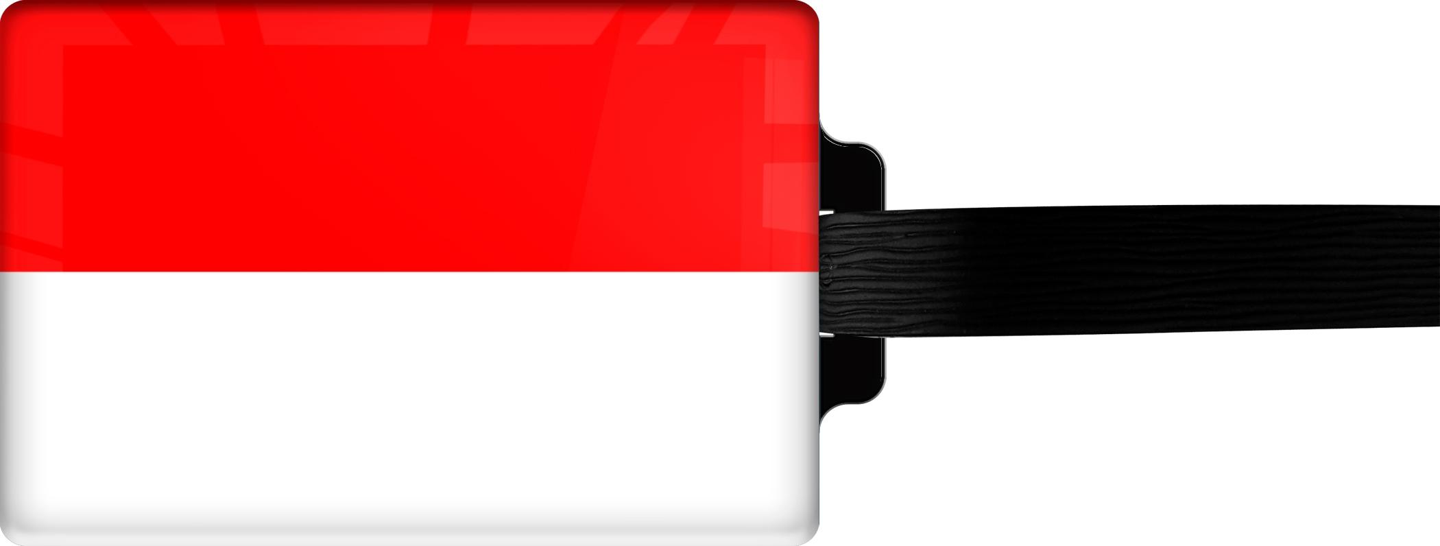 """metALUm Premium Gepäckanhänger """"Indonesien"""""""