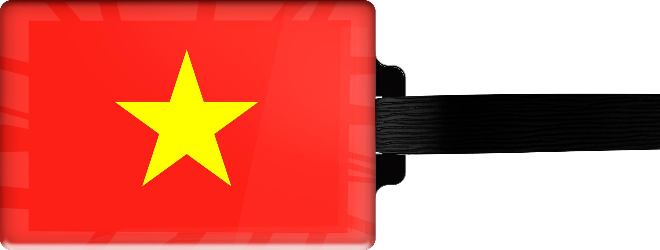 """metALUm Premium Gepäckanhänger """"Vietnam"""""""
