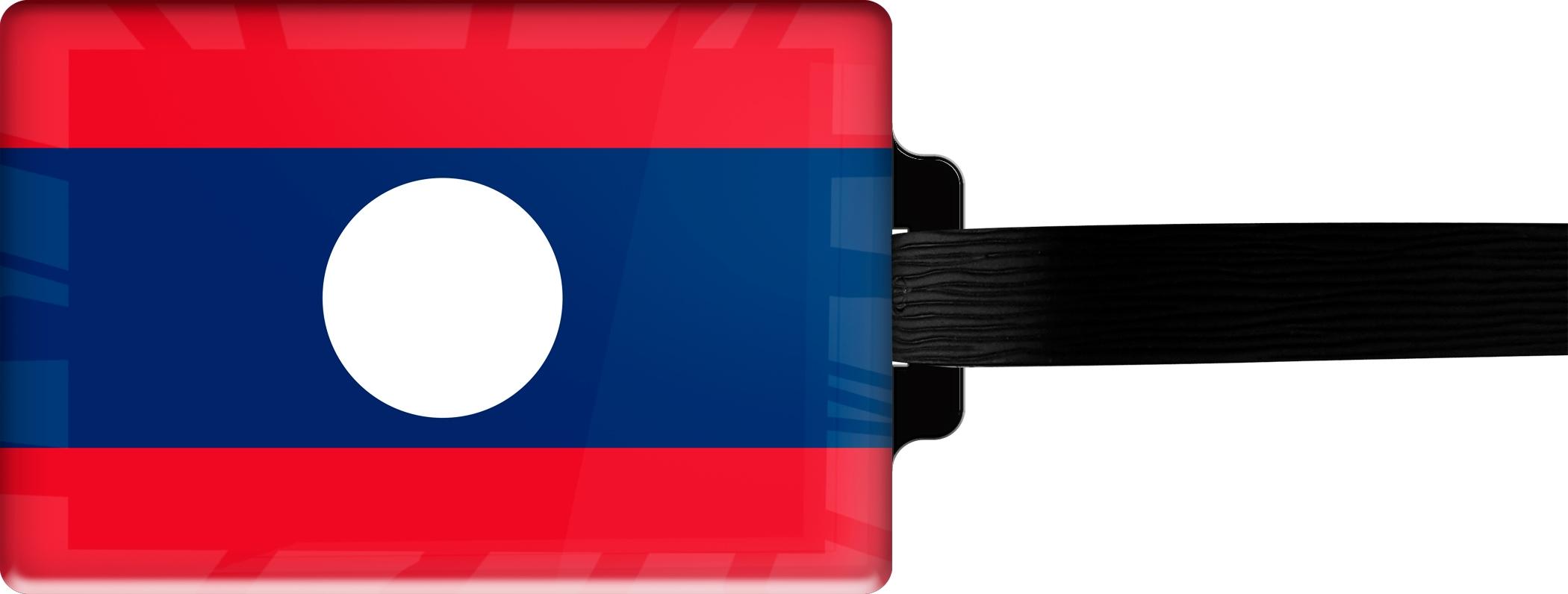 """metALUm Premium Gepäckanhänger """"Laos"""""""
