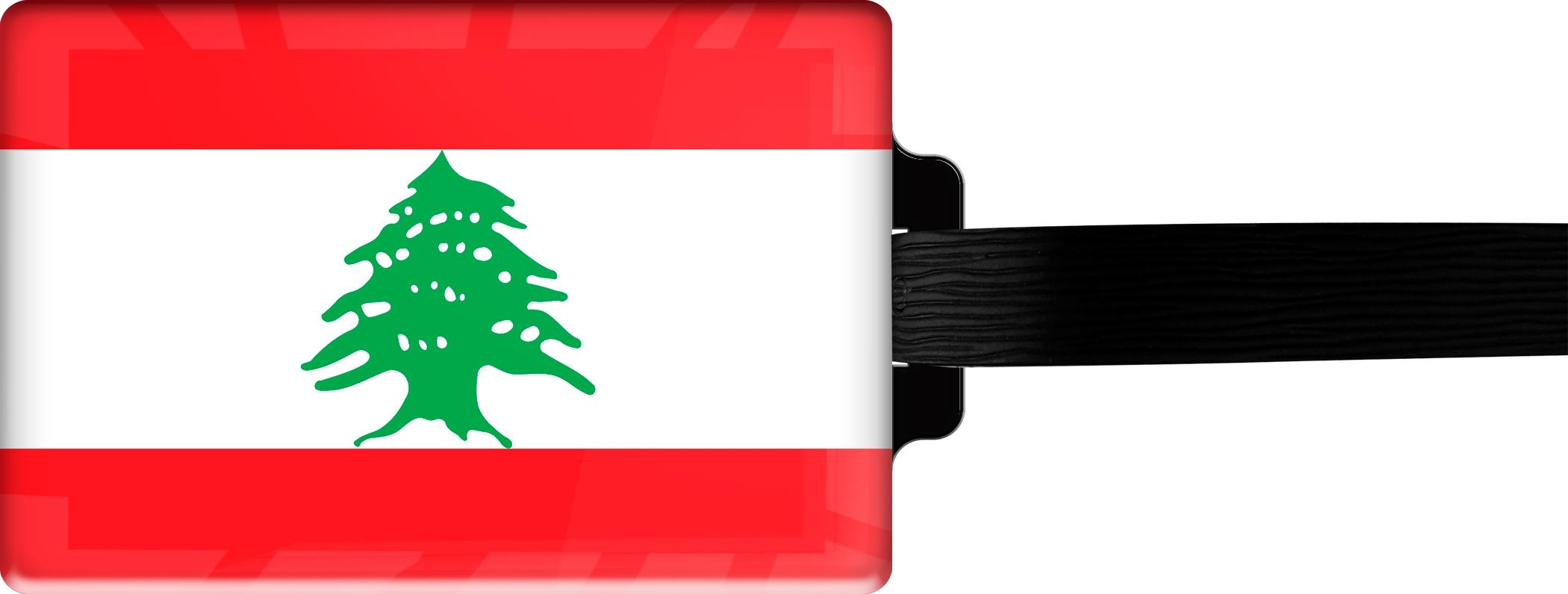"metALUm Premium Gepäckanhänger ""Libanon"""