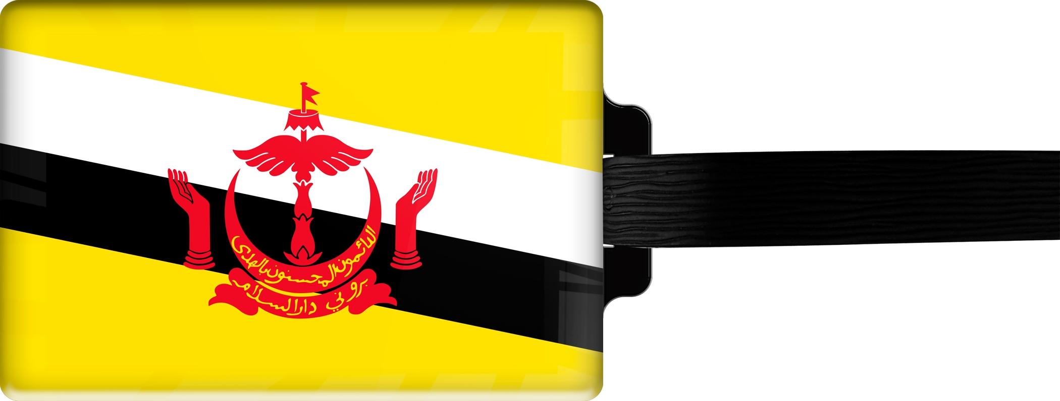 "metALUm Premium Gepäckanhänger ""Brunei Darussalam"""