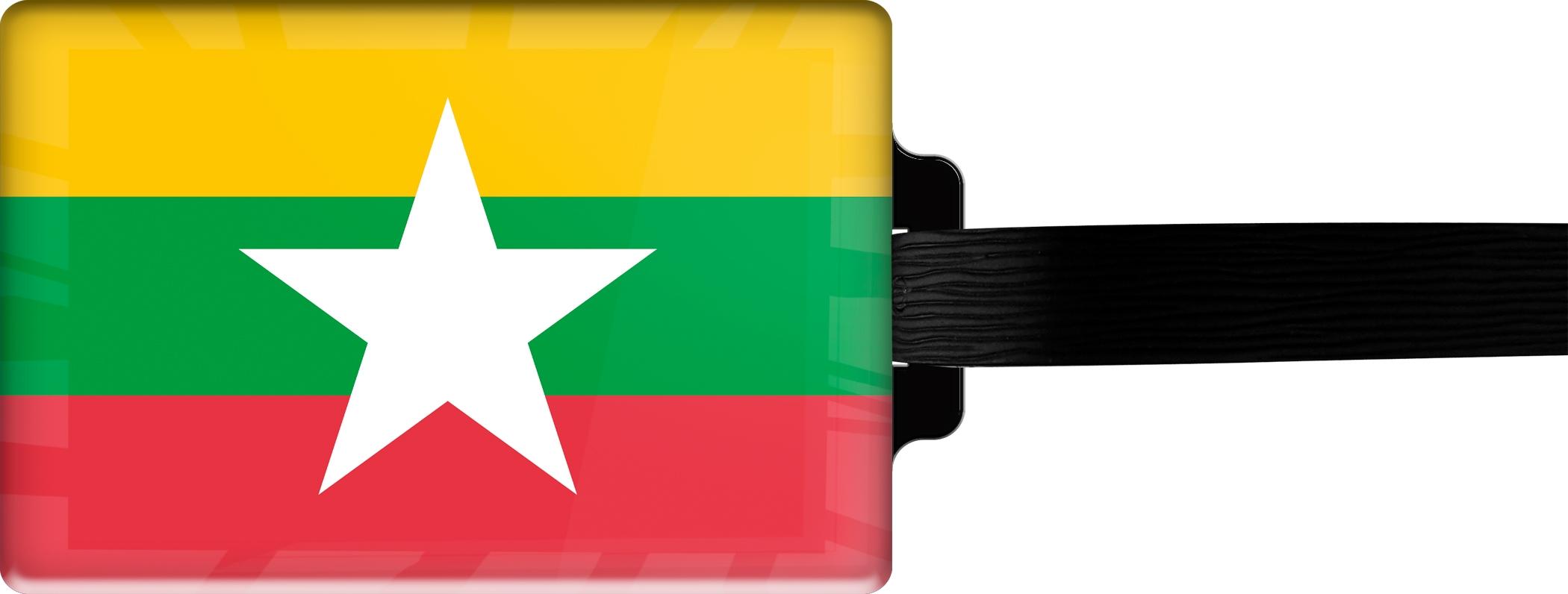 """metALUm Premium Gepäckanhänger """"Myanmar"""""""