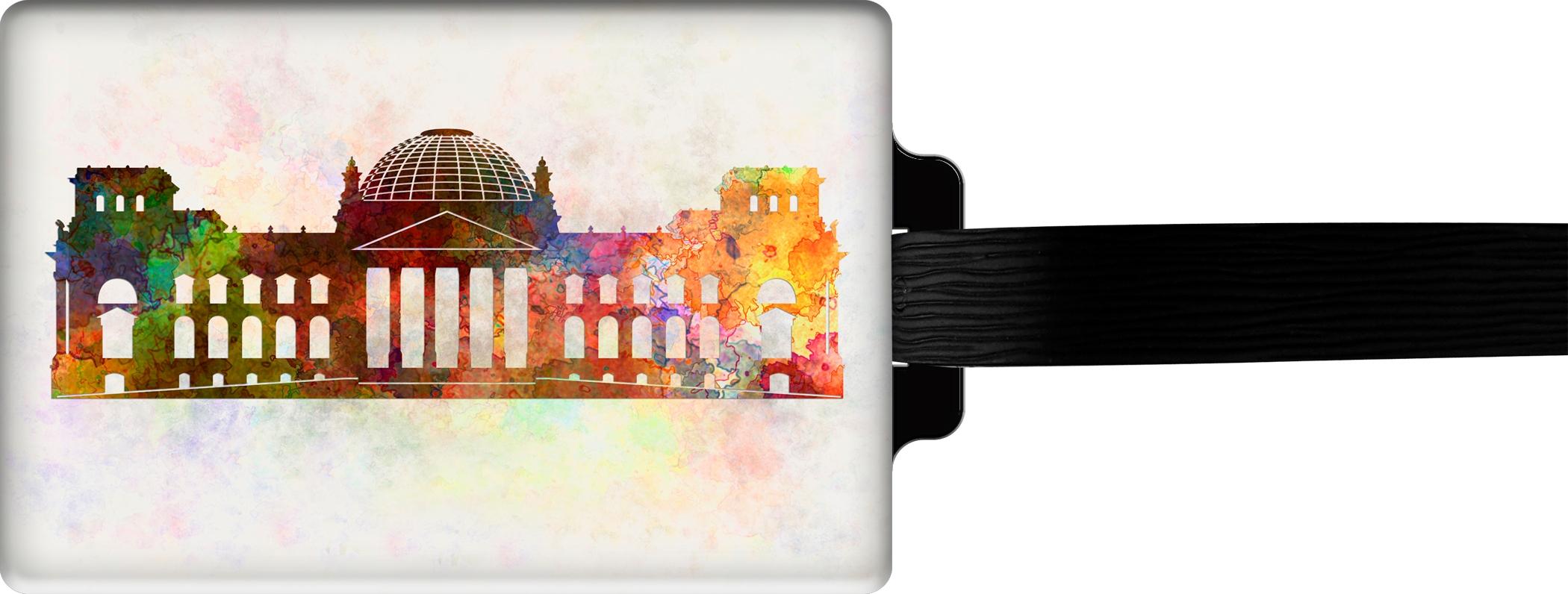 "metALUm Premium Gepäckanhänger ""Reichstag Berlin"""
