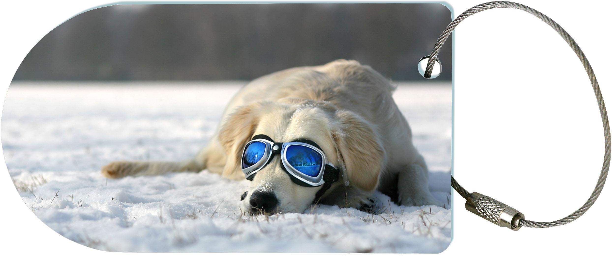 "metALUm Premium Gepäckanhänger ""Hund"""