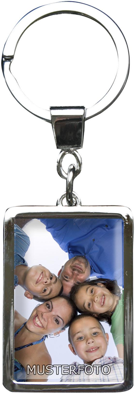 """Personalisierbarer Schlüsselanhänger in Rechteck - Form """"Mit Ihrem eigenen Foto"""""""