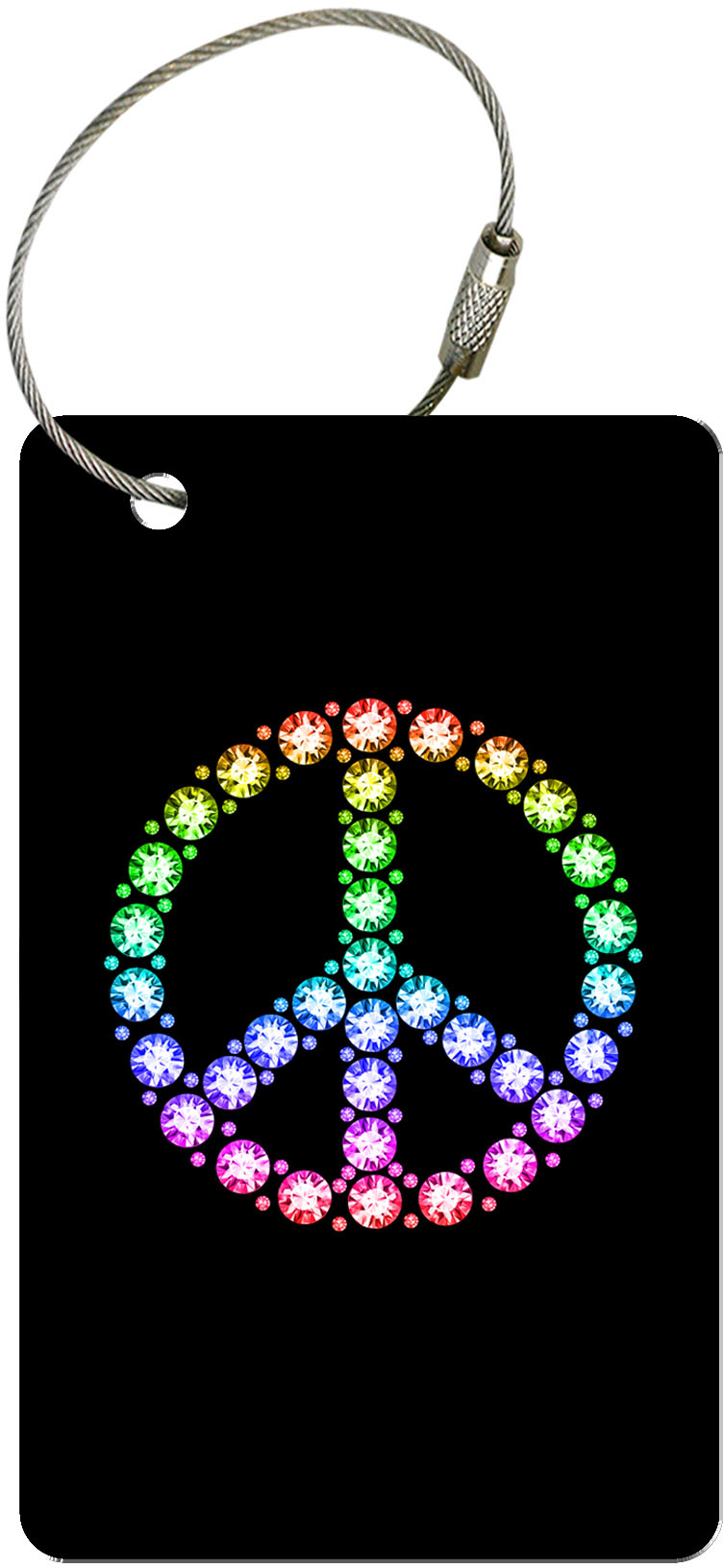 """metALUm Premium Gepäckanhänger """"Peace Symbol"""" Reisen"""