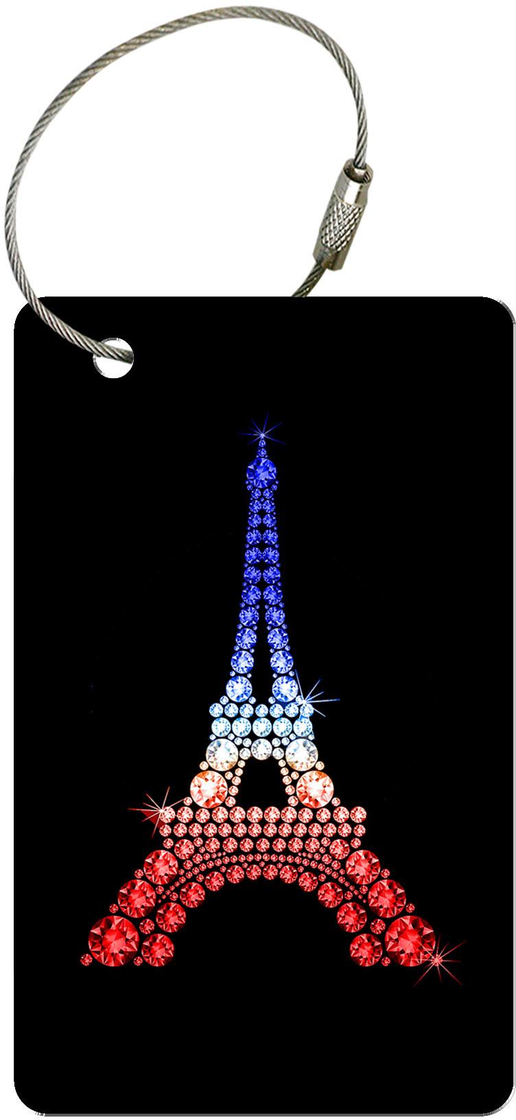 "metALUm Premium Gepäckanhänger ""Eiffelturm Tricolore"" Reisen"
