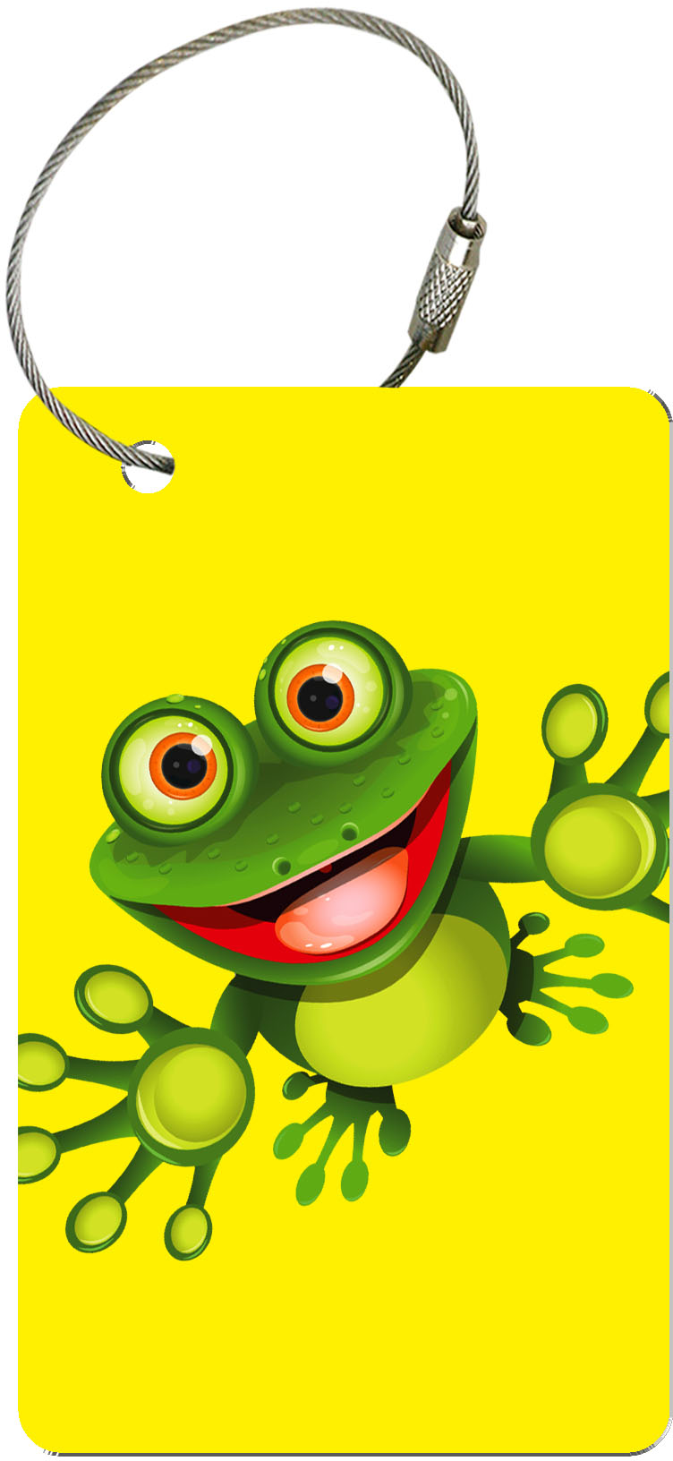 "metALUm Premium Gepäckanhänger ""Frosch"" Kindermotive"