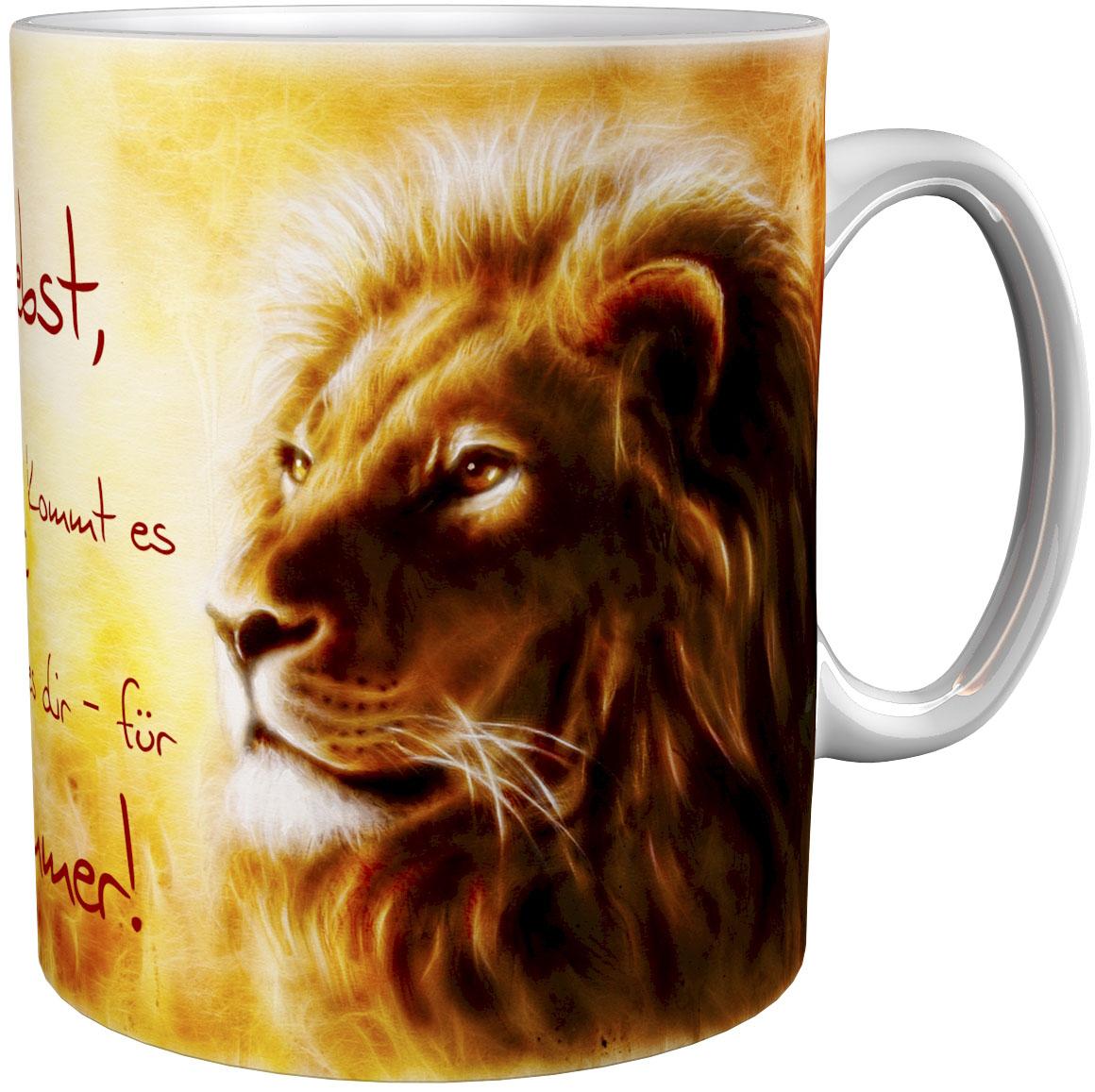 Kaffeetasse / Kaffeebecher / Löwen / Geschenktasse
