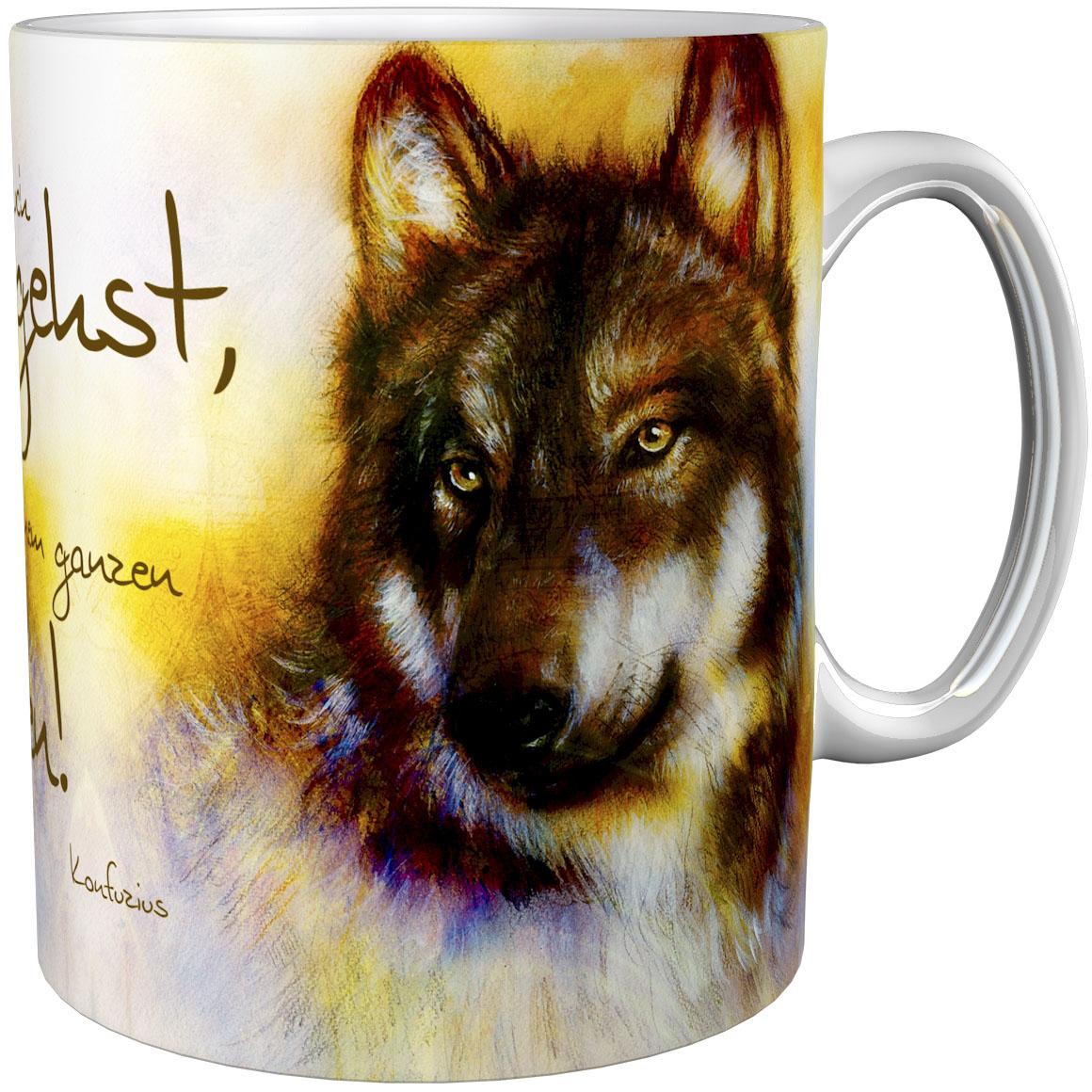 Kaffeetasse / Kaffeebecher / Wölfe / Geschenktasse