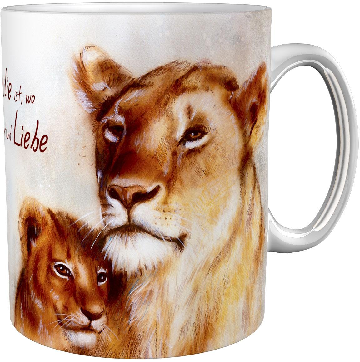 Kaffeetasse / Kaffeebecher / Pumas / Geschenktasse