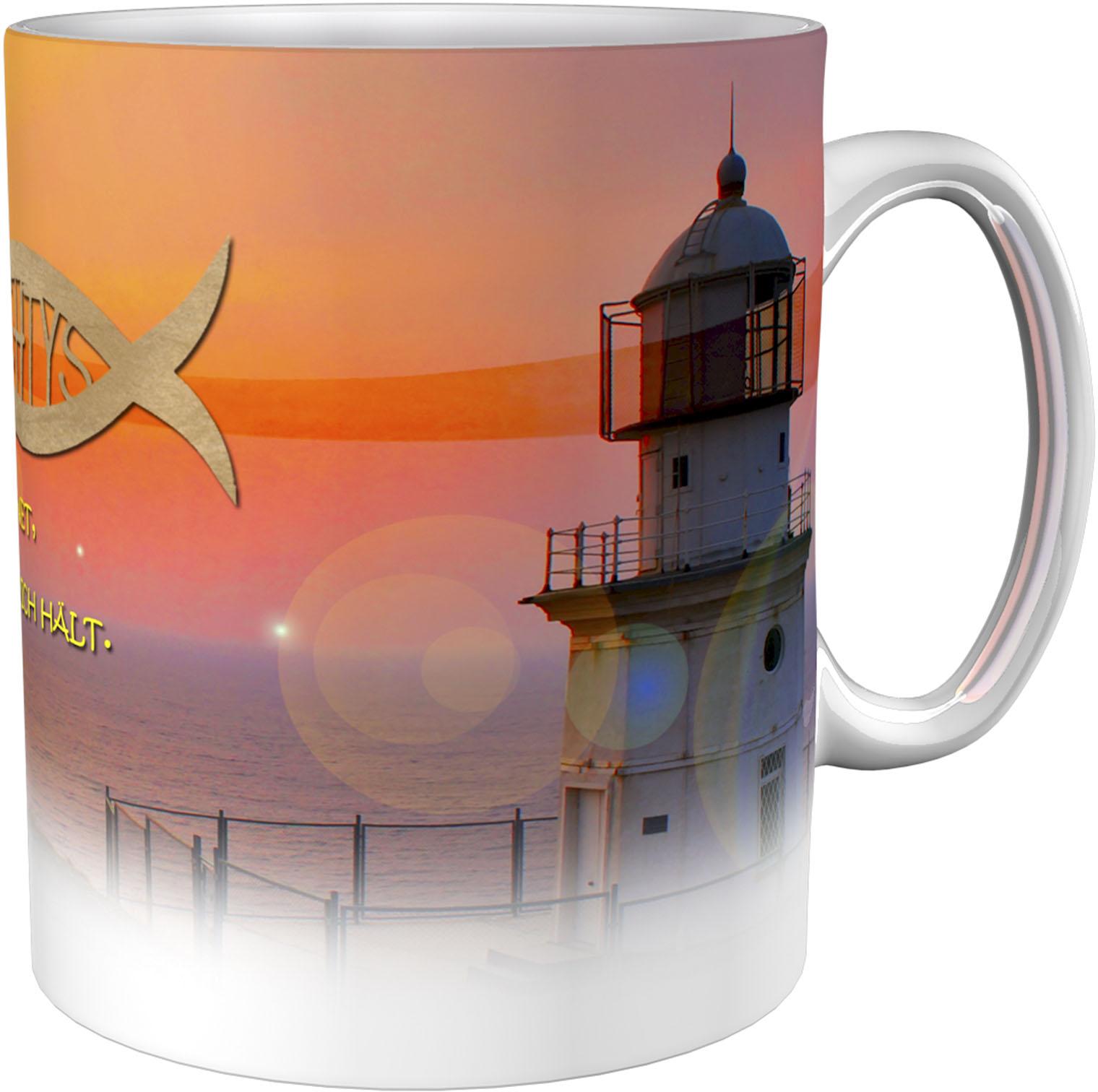 Kaffeetasse / Kaffeebecher / Leuchtturm / Christlich