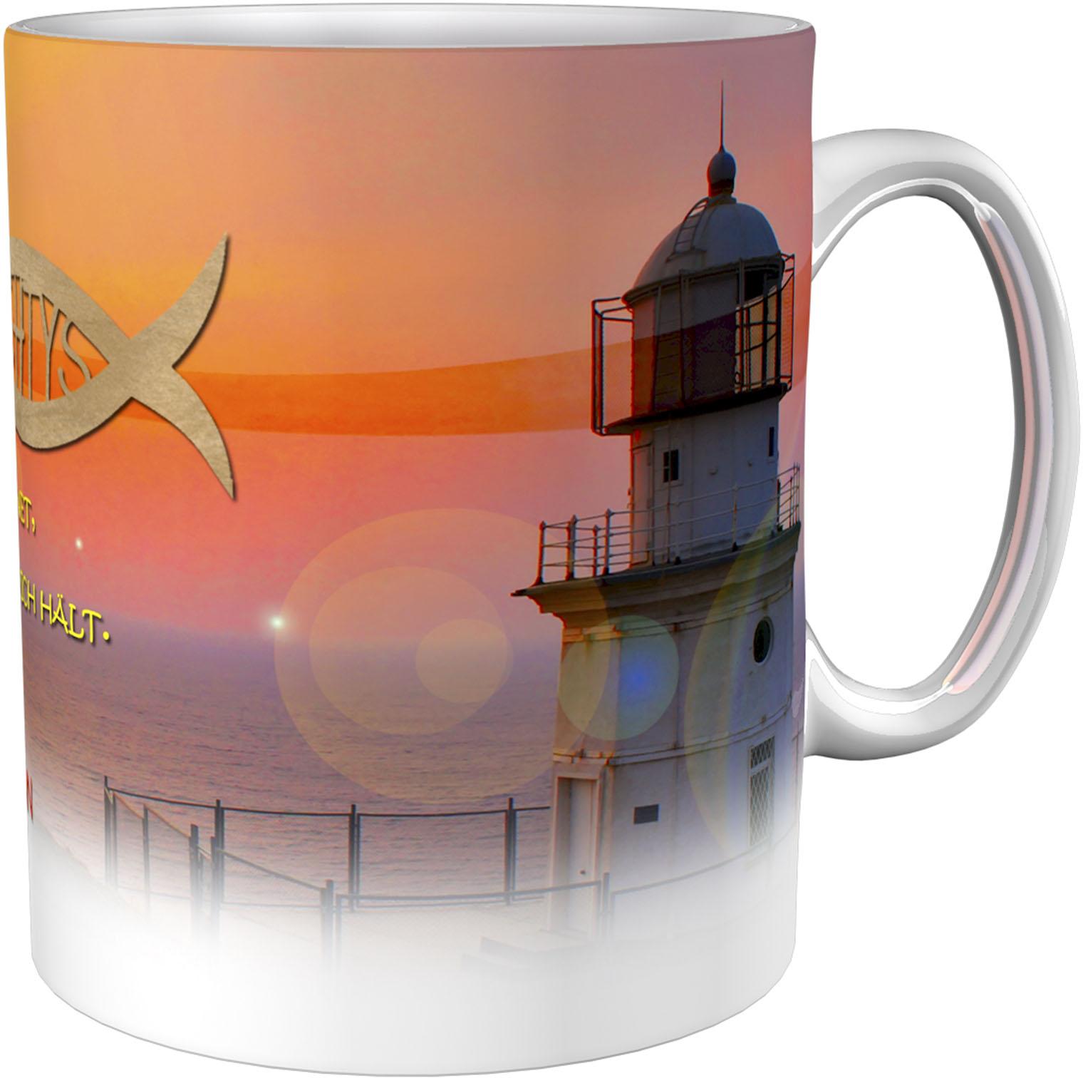 Kaffeetasse / Kaffeebecher / Leuchtturm / Konfirmation